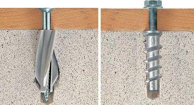 Дюбели, подходящи за пяна бетон характеристики и съвети за избор