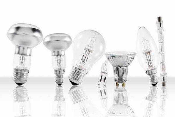 Видове халогенни лампи