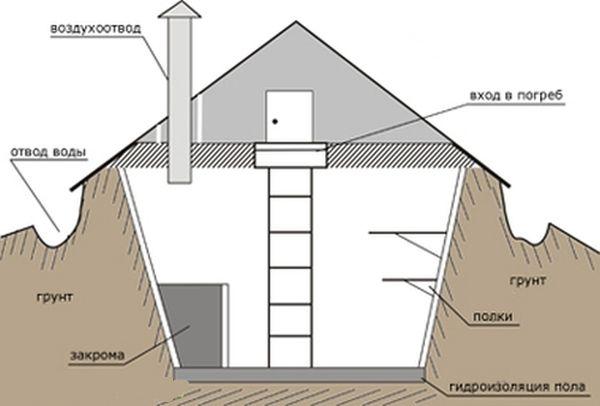 Как да се изгради удобна изба със собствените си ръце на високо ниво на подпочвените води