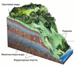 Как правилно да се направят дренажи на площадката, ако подземните води са на обучение на високо ниво с снимка