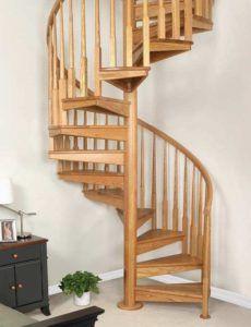 Как да направите дървена спирална стълба на втория етаж със собствените си ръце