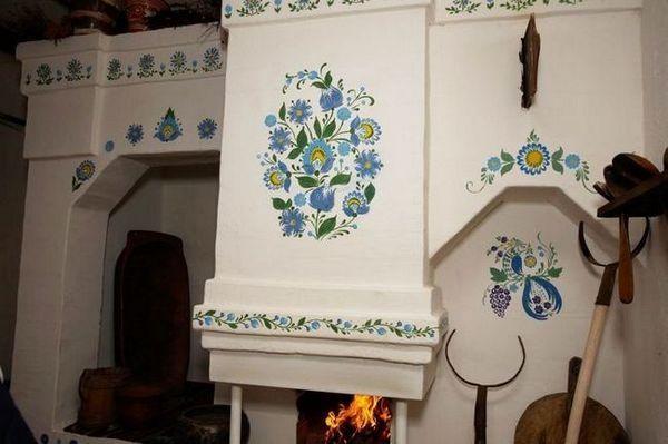 Как да украси една руска печка в къщата