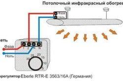Схема за свързване на инфрачервен нагревател към терморегулатор