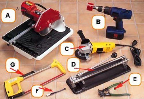 Инструменти за рязане на клинкерни плочки