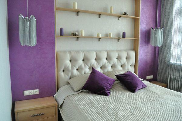 Малка спалня в светли лилави нюанси с дизайнерката на гардеробна Светлана Василиева