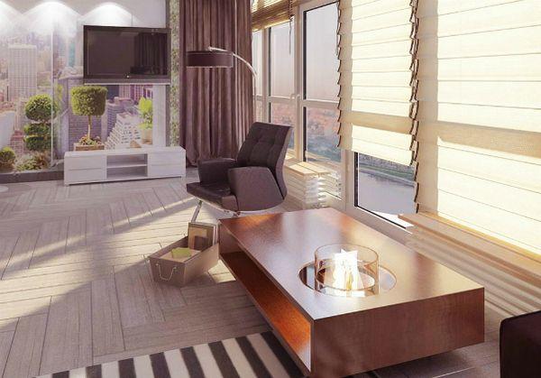 Едностаен апартамент за майка и две дъщери с открито пространство дизайнер мария svidinskaya