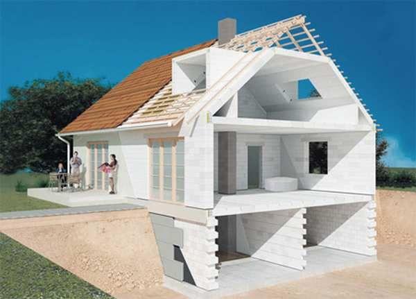 Описание на всички етапи на изграждане на къща от блокове пяна, практически съвети