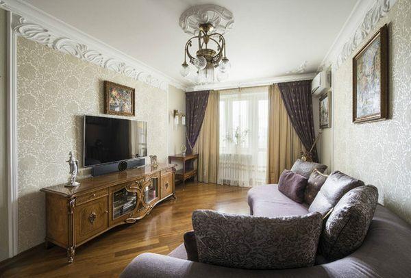 Оформлението на двустаен апартамент в дизайнерката Сталинка Лада Лунева