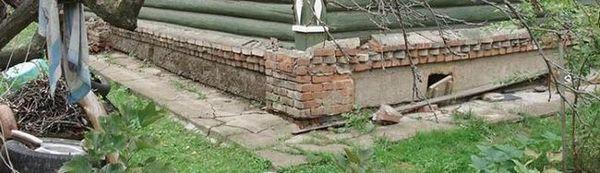Укрепване и реконструкция на фондация за тухлени къщи