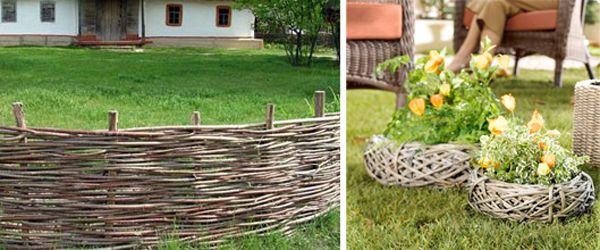 Варианти на производството на декоративна ограда за цветно легло на ръцете